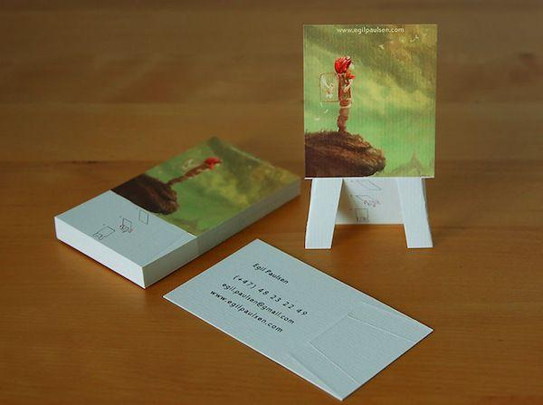 Visitekaartje met ingebouwd ezeltje... Geweldige eyecatcher voor een illustrator/schilder/fotograaf.