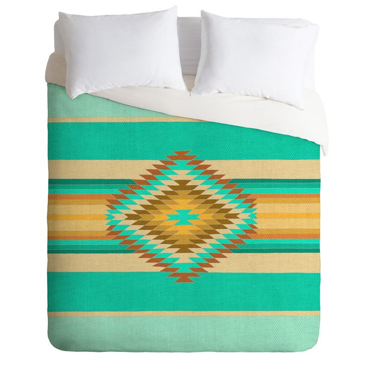 Bianca Green Fiesta Teal Duvet Cover | DENY Designs Home Accessories