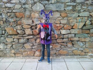 Nightmare Bonnie #handmade felt costumes for boys