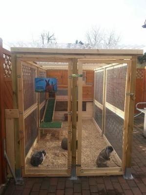 Lovely rabbit run | rabbit hutch by jeri                                                                                                                                                     More