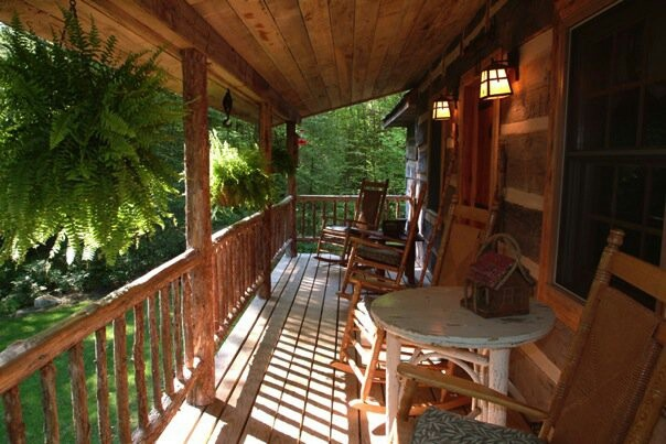 32 best porch ideas images on pinterest home ideas for Rustic porches and decks