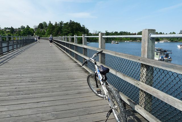 A section of the Galloping Goose Trail - a biking and hiking trail near Victoria, BC.