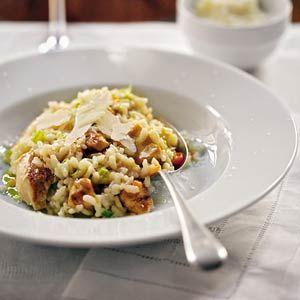 Risotto met kip en groenten. Het Allerhande-recept dat ik het vaakst maak.