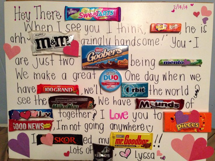 9 best images about For E – Candy Valentine Card