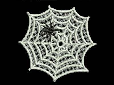FSL Spider Webs Machine Embroidery Designs  http://www.designsbysick.com/details/fslspiderwebs