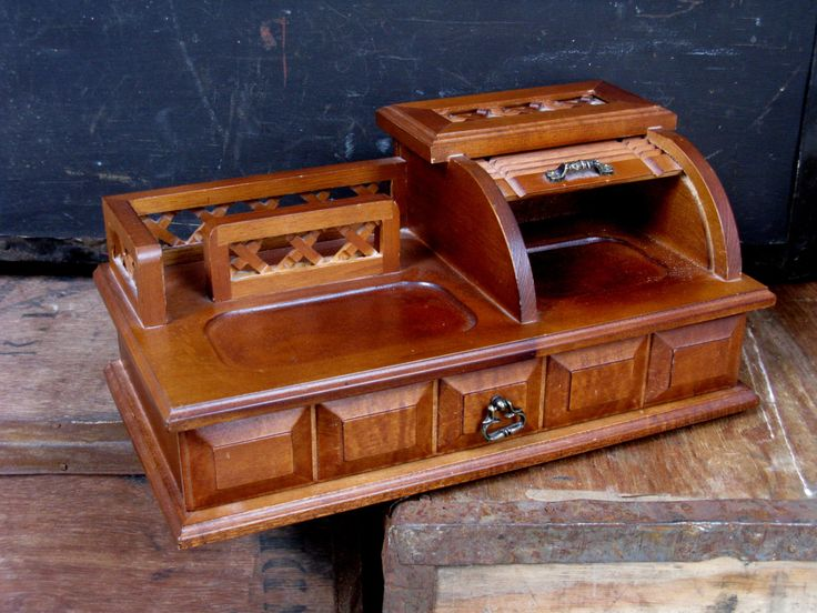 The 25 best man shed desk tidy ideas on pinterest house roll top desk box old fashioned desk mens grooming desk tidy wood jewellery box wood jewellery box vintage desk vintage office gumiabroncs Images