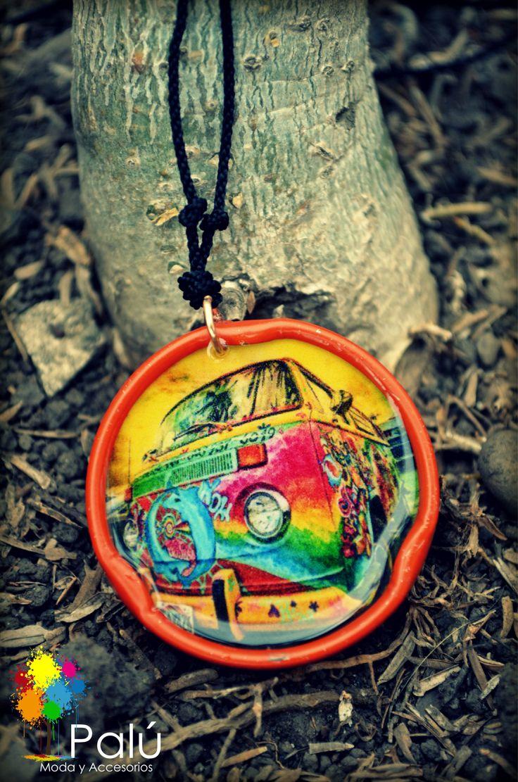 Collar - Gargantilla en tapa de Hit Carro Hippie