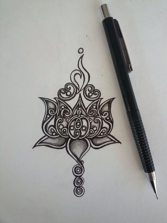 Lotus tattoo design: