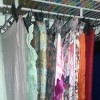 As I told the folks at Rubbermaid, the very best way to organize scarves is by using skirt hangers. No more wadded, wrinkled messes!