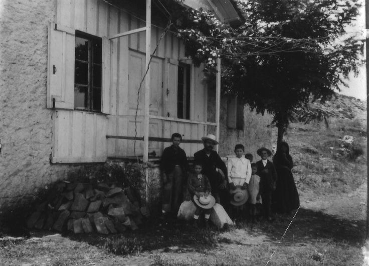 School house and group Kephalovryson, Aetolia. This photograph was taken by Nicholson Museum curator William J Woodhouse in Greece between 1890 and 1935. https://www.flickr.com/