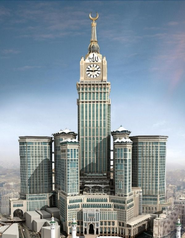 Abraj Al Bait Towers  Built in 2011, in Mecca, Abraj Al Bait Towers is 601 meters, 1,972 feet tall.