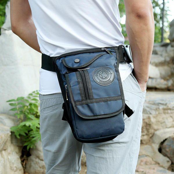 Men Nylon Drop Leg Bag Hip Bum Bag Riding Motorcycle Outdoor Waist Bag - US$21.13  men women  bags fashion
