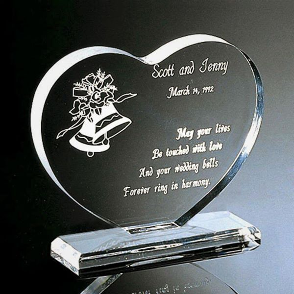 Personalized Acrylic Engraving Heart Shape