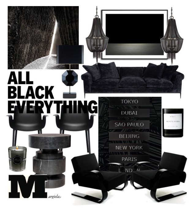 All BLACK Everything by myhouse-myideas on Polyvore featuring polyvore interior interiors interior design home home decor interior decorating Artek Kartell Uttermost Burke Decor Byredo Viktor & Rolf ALDO Maison Margiela