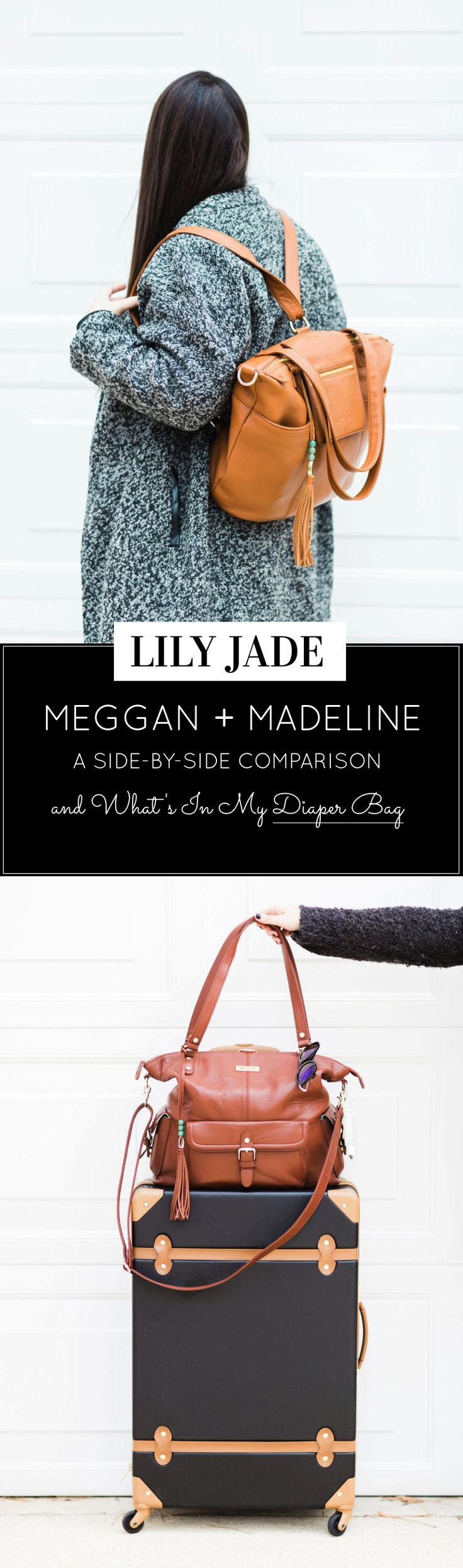 A review of the brand new Lily Jade Madeline diaper bag, plus a side-by-side look at my Meggan, what's in my Lily Jade diaper bag, and a GIVEAWAY! | glitterinc.com | @glitterinc