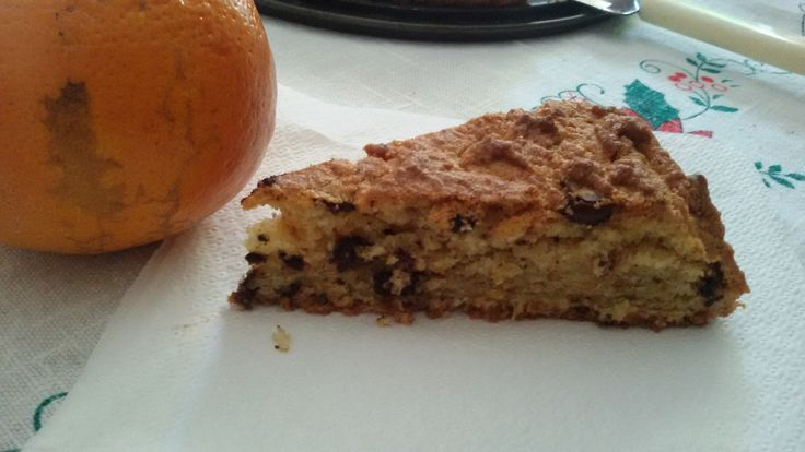 Torta arancia e gocce di cioccolato - senza glutine