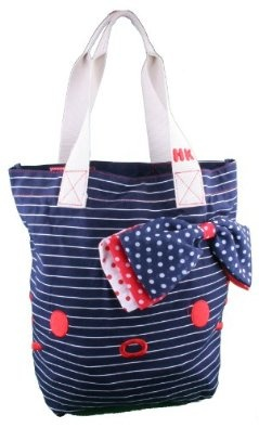 Hello Kitty Nautical Tote Bag Purse in Red, White and Navy Blue $39.95