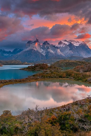 Over the top, Torres del Paine, Chile