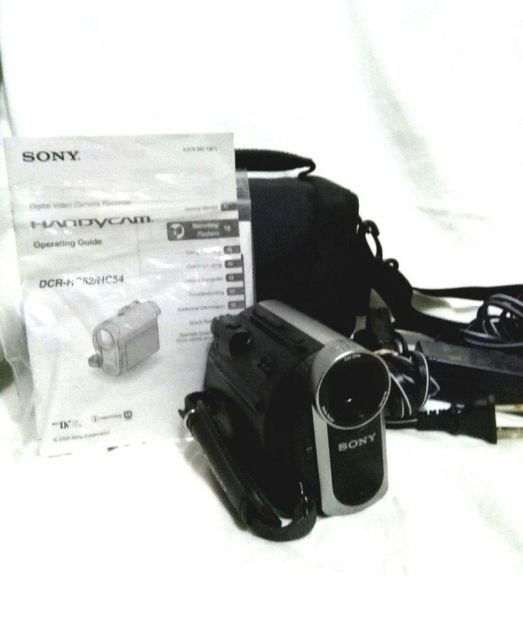 SONY HANDYCAM HC52 Mini DV DIGITAL VIDEO Camcorder ZEISS 40x Zoom - Bundle   eBay