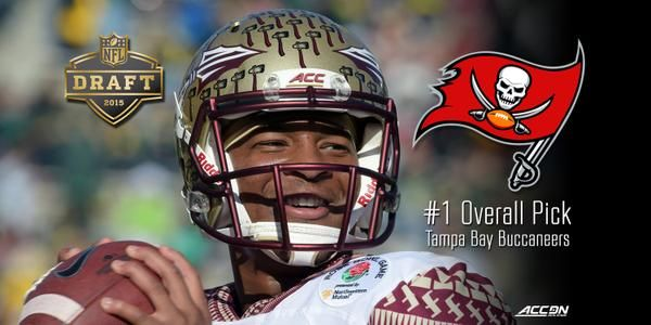 Congrats to Jameis Winston for being the #1 pick in the 2015 NFL draft to the Tampa Bay Buccaneers