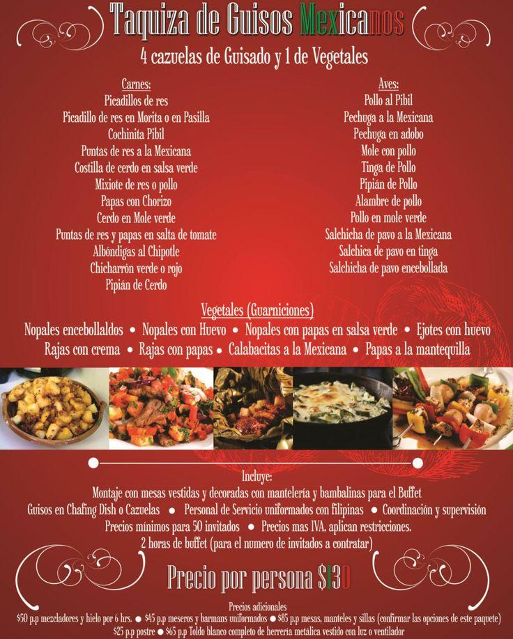 Mejores Banquetes   Taquiza de Guisos Mexicanos