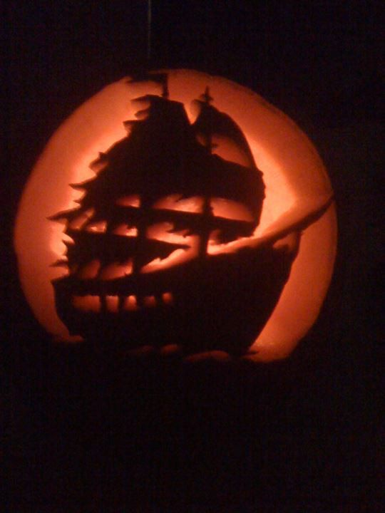 halloween decorations foam carved pumpkins in by thegorygourd 3950 - Pirate Halloween Decorations
