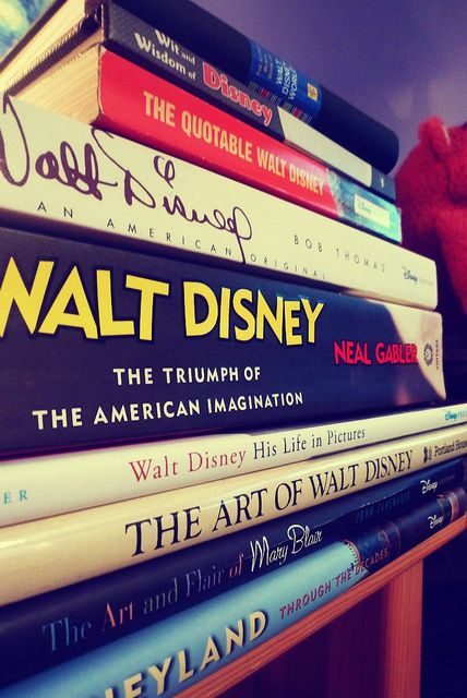 "books about disney- I have at least two of those! ""The Quotable Walt Disney"" & ""Walt Disney: An American Original""! :)"