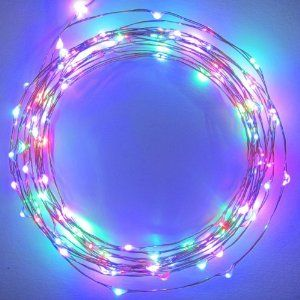 The Original Starry String Lights™ by Brightech - MultiColor LEDs on a Flexible Copper Wire - 20ft LED String Light with 120 Individually Mounted LED's - Set the Mood You Want Anywhere! - Perfect For Creating Instant Appeal in Any Setting - Parties, BBQs, Dances, or an Intimate Environment at Home  Brightech $23.99
