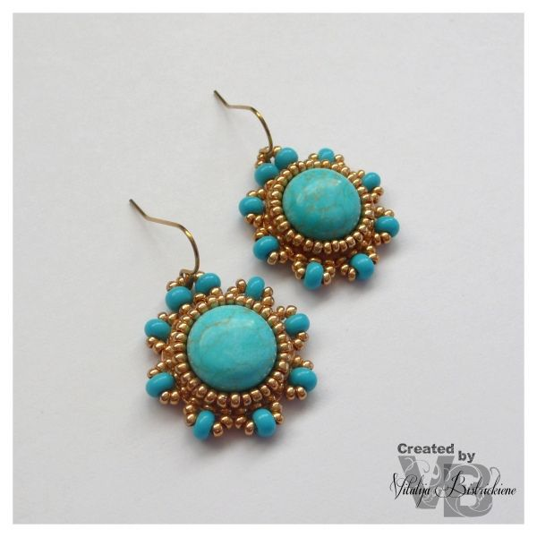 Circular Brick Stitch/Bead Woven earrings