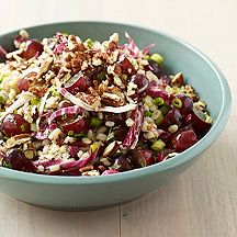 Barley Salad with Grapes and Pecans. Serves 6; 5 Points Plus per 3/4 cup serving