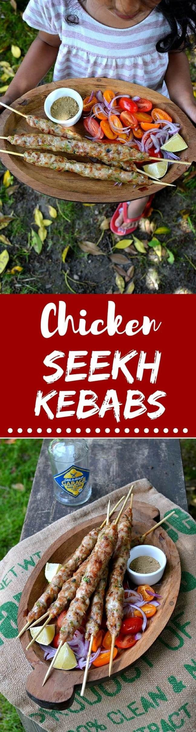 Chicken Seekh Kebabs: Celebrate grilling season with these wonderfully succulent and easy to make kebabs!