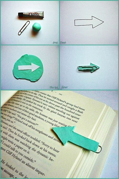 So simple - and cute!  Now you don't have to finish the page before putting the book down
