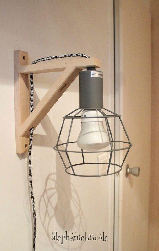 suspension lampe déco diy récup                                                                                                                                                                                 Plus