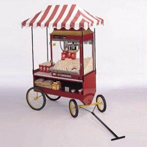 Red Classic Popcorn Machine Steerable Wagon