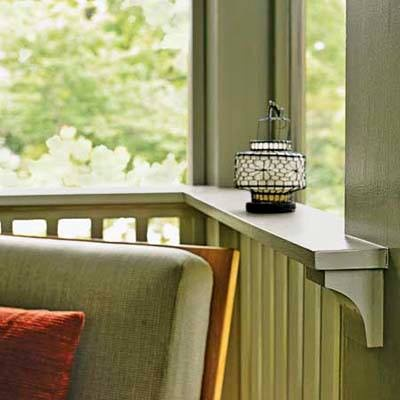 Idea of the Day: When designing your porch, keep all the details in mind. Here, the top rail's ledge is deep enough to hold a drink glass, meaning this porch needs fewer tables. It is supported by handsome, curved brackets. Steal more porch-design ideas>  http://www.thisoldhouse.com/toh/photos/0,,20353322,00.html