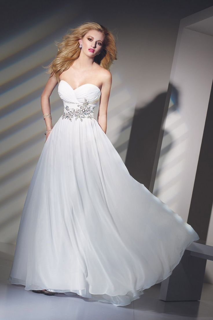 10  images about White Formal Dress on Pinterest - Beaded chiffon ...
