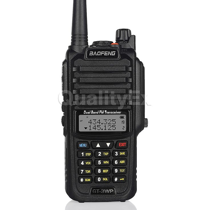 Baofeng GT-3WP IP67 Waterproof Dual Band 136-174/400-520MHz Ham Two Way Radio Transceiver Walkie Talkie + Car Charger Cable
