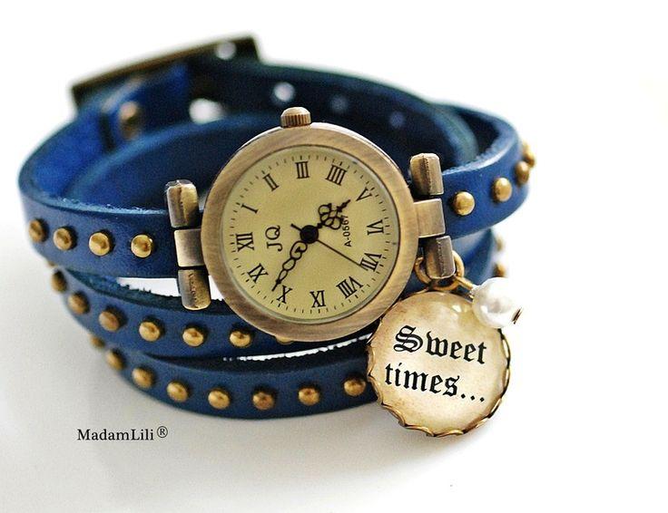Zegarek skórzany Sweet Times  #Ribell #MadameLili #zegarki #modadamska #handmade >> Wybierz Twój na: https://www.ribell.pl/zegarki-recznie-robione-handmade