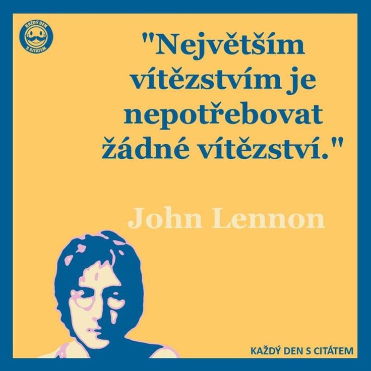 Největším vítězstvím je nepotřebovat žádné vítězství...