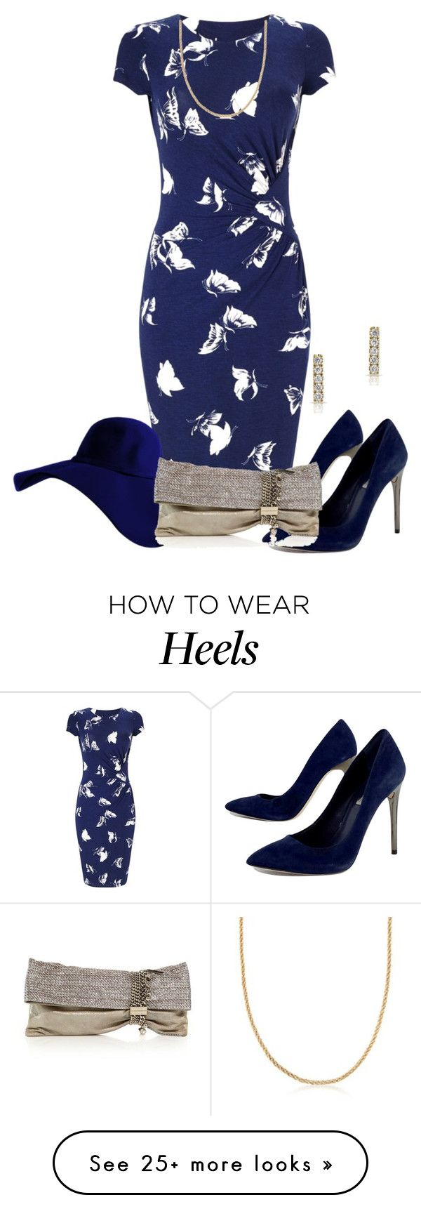 Celeb photos rachel lester rocking a new hairstyle classic atrl -  Blue Lady By Kim Coffey Harlow On Polyvore Featuring Phase Eight