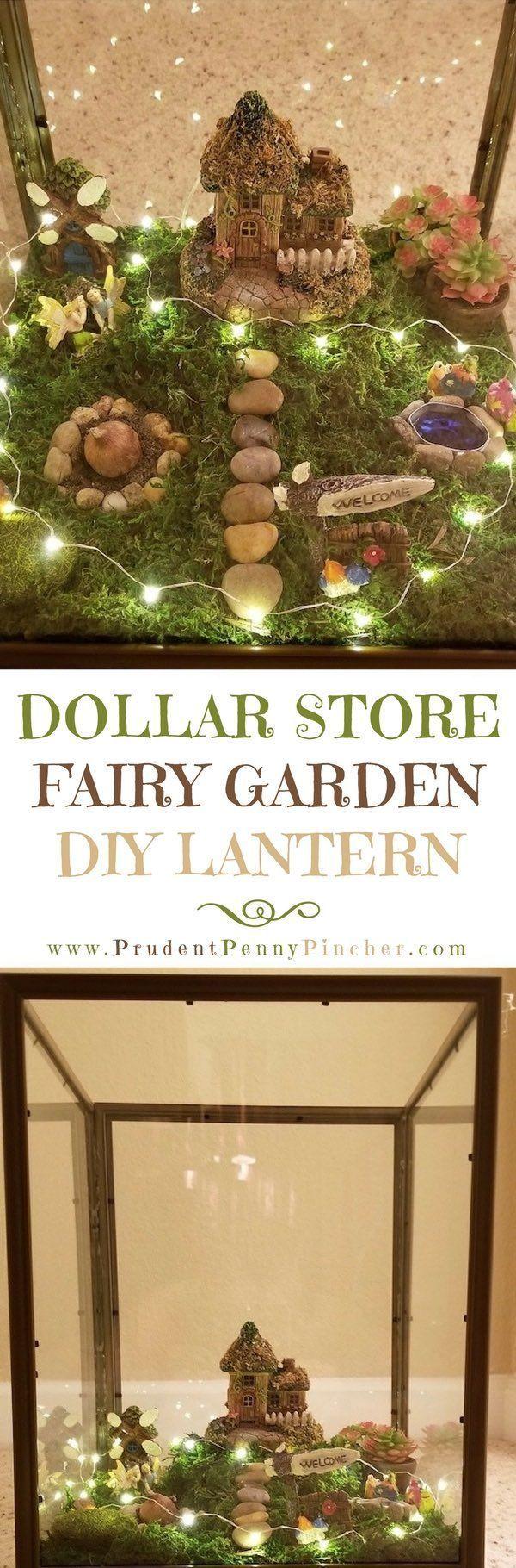 Dollar Store DIY Fairy Garden Lantern – #DIY #Doll…