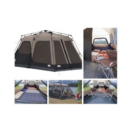 8 Person Instant Tent Coleman Canvas 2 Room Tent Waterproof WeatherTec Family | Tents  sc 1 st  Pinterest & 8 Person Instant Tent Coleman Canvas 2 Room Tent Waterproof ...