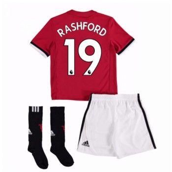 Manchester United Marcus Rashford 19 kläder Barn 17-18 Hemmatröja Kortärmad  #Billiga #fotbollströjor