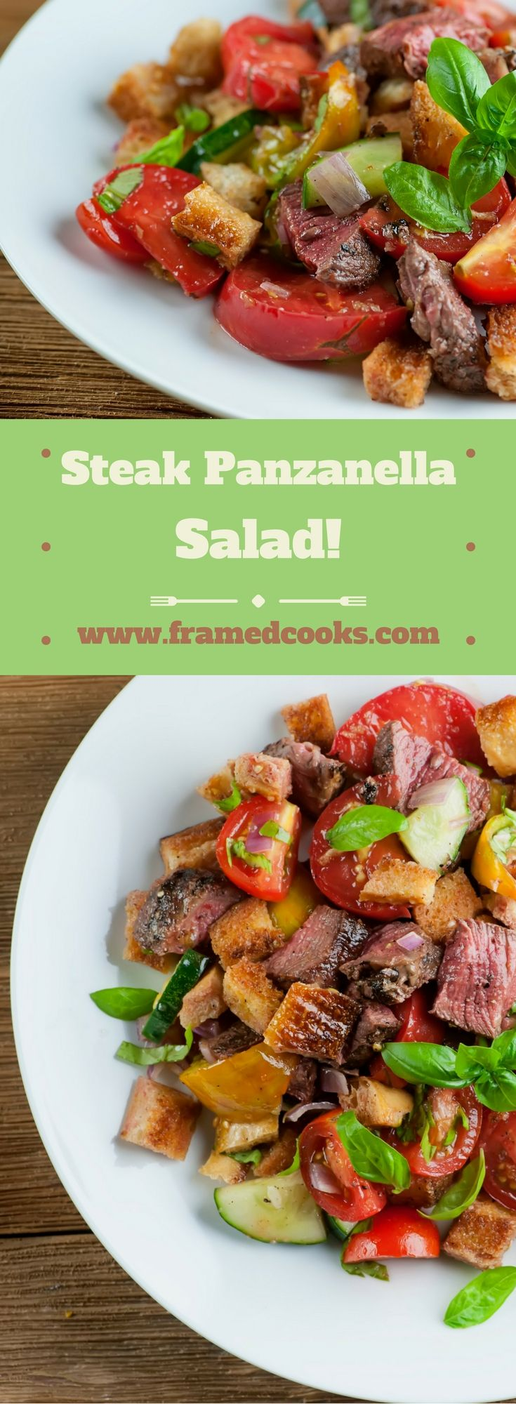 This recipe for steak panzanella salad is a glorious and easy combo of steak…