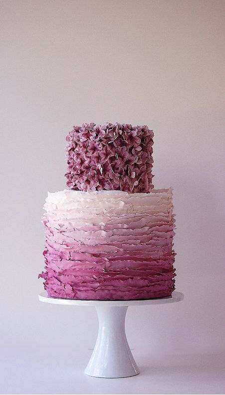 purple wedding cakePretty Cake, Cake Design, Purple Wedding Cake, Ombre Cake, Beautiful Cake, Wedding Cakes, Birthday Cake, Ruffles Cake, Purple Cake