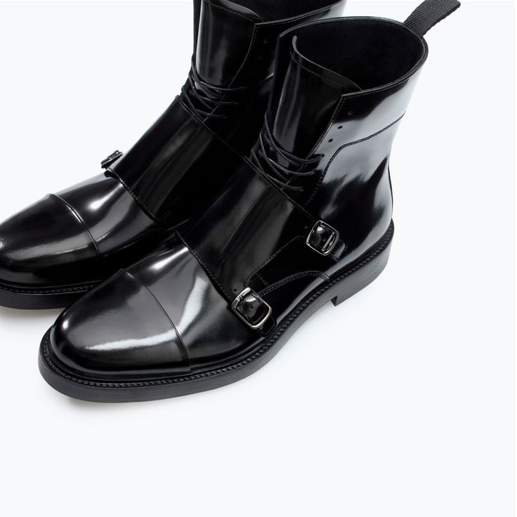 Leather Boot With Buckles Boots And Ankle Boots Shoes Man