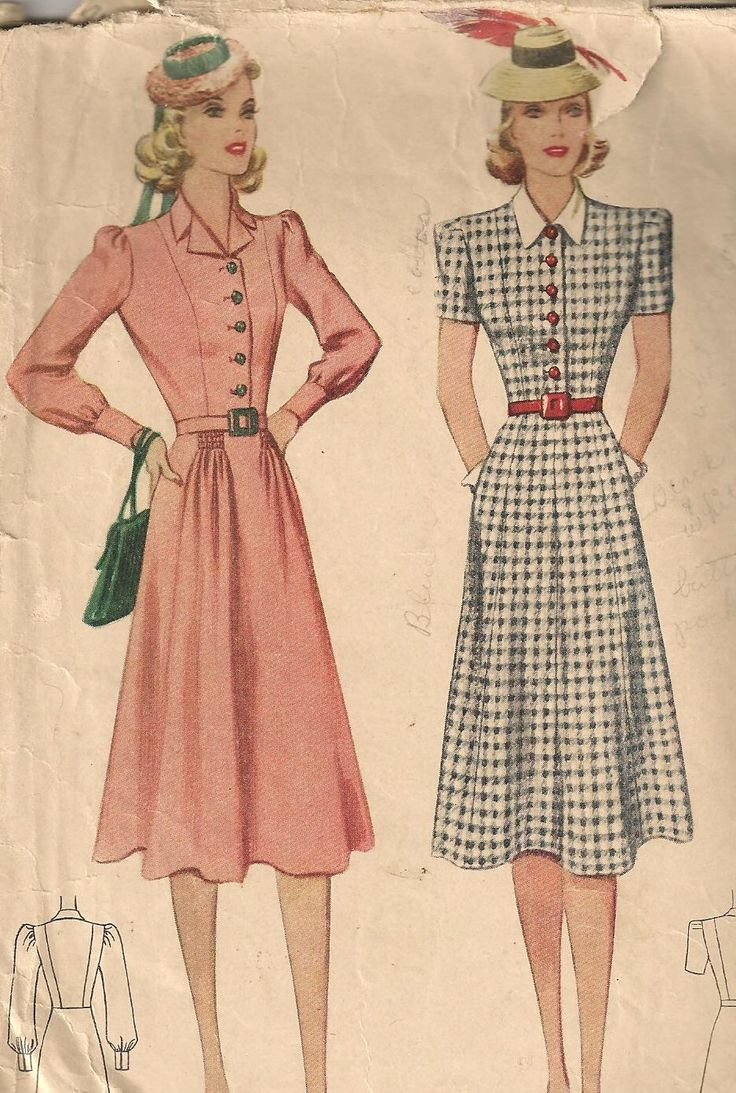 SALE - 1930s Sewing Pattern / Smart Flared Skirt Day Dress / Shirtwaist Dress / 36 Bust / McCall 3333 by HepCatVintageUK on Etsy https://www.etsy.com/listing/175976828/sale-1930s-sewing-pattern-smart-flared
