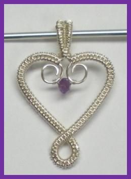 images of wire weaving sculpture | ... Heart Pendant, a Free Jewelry Pattern from Wire-Sculpture.com