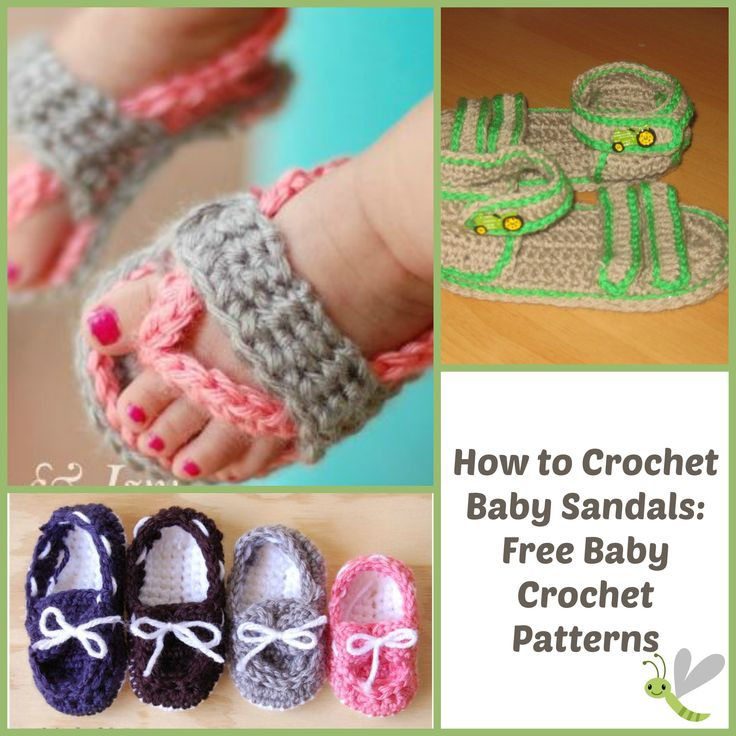 Crochet Baby Toe Sandals Free Pattern : 17 Best images about Crochet Baby Sandals on Pinterest ...