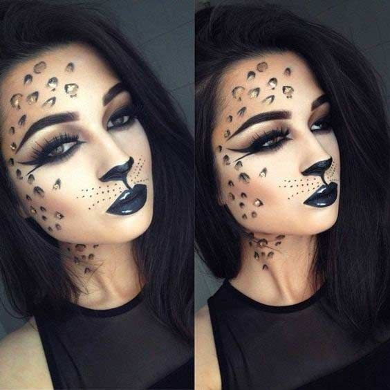 Sexy Cheetah Halloween Makeup Look